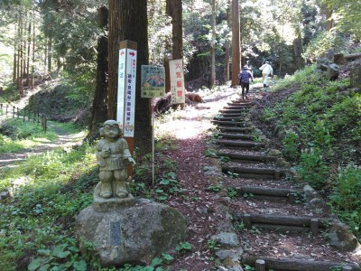 鏡岩への道