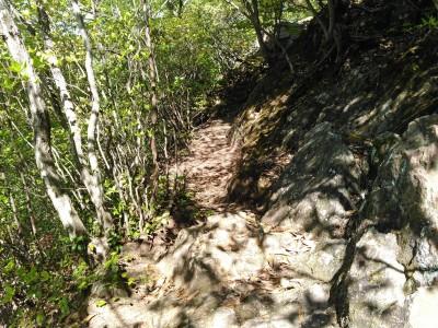 弁慶穴への道